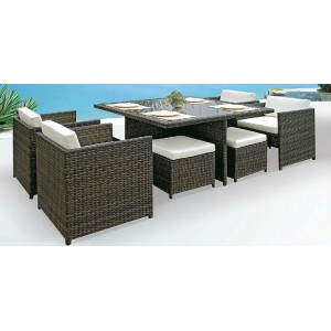 9pc Space Saver Dining Cubic Setting
