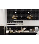 Gloss Black Subway Tiles 100x300