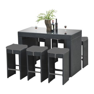 Outdoor breakfast bar 7pc decor my villa Home furniture packages australia